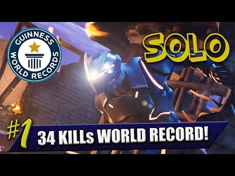 日本人が世界一位を取りました ソロ34キルNew World Records FORTNITE BATTLE ROYALE GAMEPLAYER ENG/JPN
