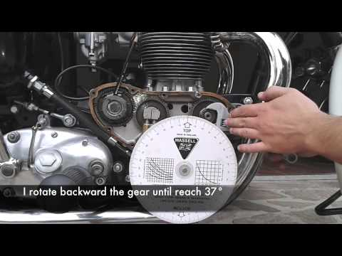 Triumph preunit ignition timing advance  YouTube