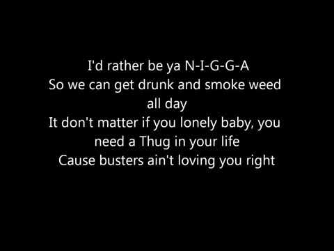 2pac & Snoop Dogg - i rather be your N.I.G.G.A  (smoke weed allday) Lyrics