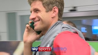 Thomas Muller hilariously uses his passport as a phone to avoid reporters