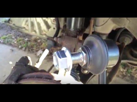 What a Broken Sway Bar link looks sounds like - Repair