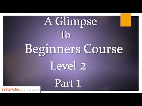 Two Karmic Transits - A Glimpse To Beginners Course Level 2 : Part 1