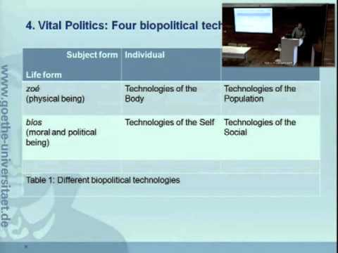 """Dr. Thomas Lemke: """"Biopolitics: Current Issues and Future Challenges"""""""