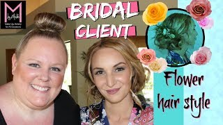 Florida Bride makeup and hair (M by Mickie)