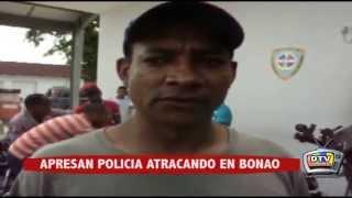 APRESAN POLICIA ATRACANDO