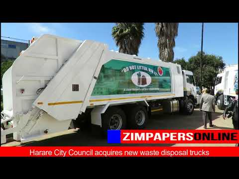 Harare City Council acquires new waste disposal trucks