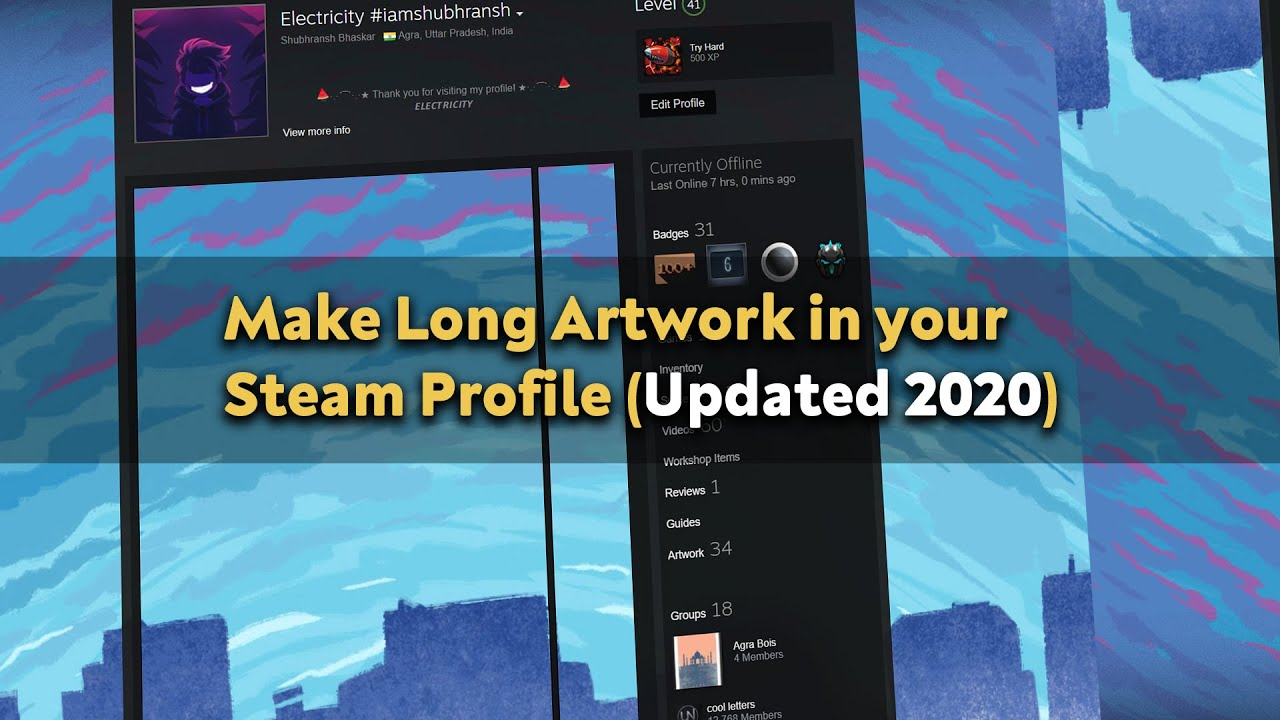 How To Make Long Artwork Showcase In Your Steam Profile Updated 2020 Youtube