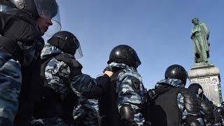 Задержания на Страстном бульваре (Антикоррупционный митинг в Москве 26.03.2017)