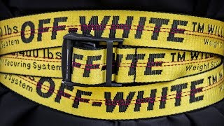 NEVER SEEN ways to style Off-White industrial belt - SOFIA SUSANNE