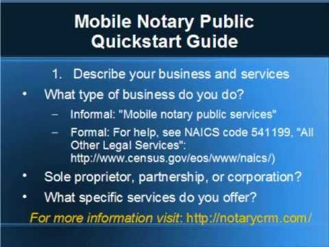 Sample mobile notary business plan