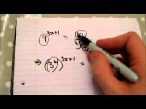 how to solve simultaneous equations with indices