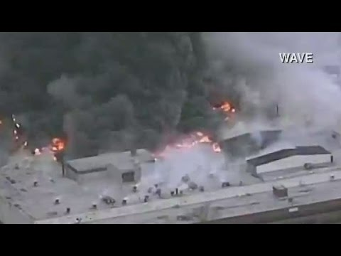 Four-alarm fire at Louisville GE building