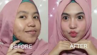 Tutorial makeup sehari hari untuk wajah berjerawat parah + MURAH
