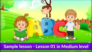Lesson 01 in Medium level in Monkey Junior - Learn to read simple sentences