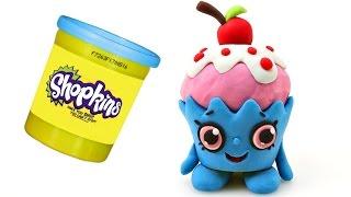 new shopkins cherry cake play doh claymation stop motion juguetes animacin