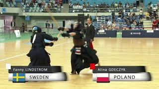 17th World Kendo Championships 4ch F.LINDSTROM(SWE) vs A.GDECZYK(POL)