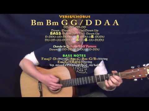Despacito (Luis Fonsi) Guitar Lesson Chord Chart - Bm G D A