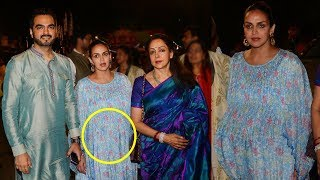 Pregnant Esha Deol With Family At ISKCON Temple Juhu