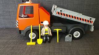 Unboxing PLAYMOBIL 6861 City Action Builder's Truck Construction Truck with Tilting Trey