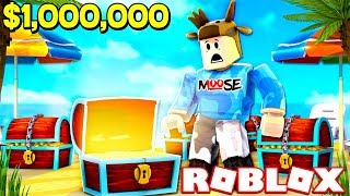 FINDING THE MOST EXPENSIVE DIAMOND CHEST IN ROBLOX! (ROBLOX BEACH SIMULATOR)