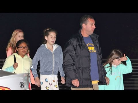 Adam Sandler Treats Daughters Sadie And Sunny And Friends To Dinner In Malibu