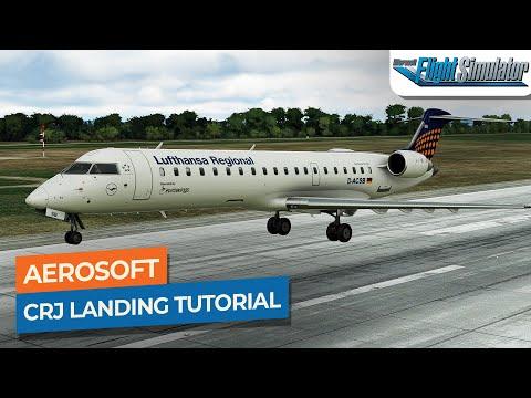 [MSFS] Aerosoft Bombardier CRJ-550/700 Approach, ILS U0026 Landing Tutorial Drawyah