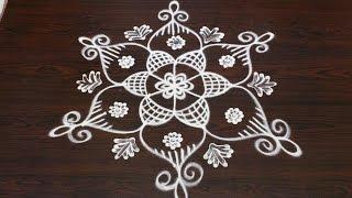 easy rangoli designs with 5 to 3 interlaced dots || sankranthi muggulu designs||pongal kolam designs