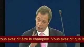 Nigel Farage interpelle Nicolas Sarkozy