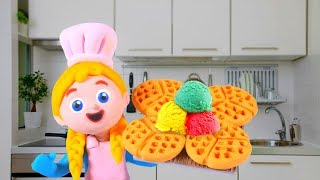 LITTLE PRINCESS BEST CHEF EVER ❤ SUPERHERO PLAY DOH CARTOONS FOR KIDS