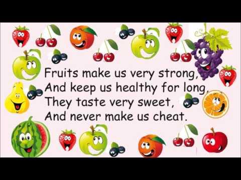 English nursery rhyme Fruits make us strong - YouTube