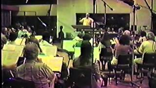 Lionel Newman conducts on the Fox Scoring Stage (1981)