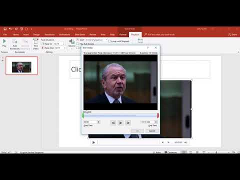 Inserting a video into PowerPoint 2016
