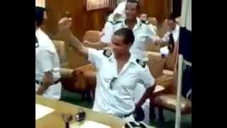 رقص طلاب كليه الشرطة على النشيد الوطنى المصرى.
