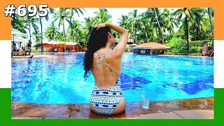 GOA SWIMMING POOL DAY TAJ HOTEL INDIA DAY 695 | TRAVEL VLOG IV