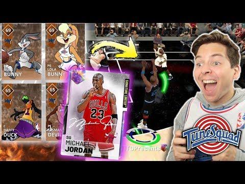 SPACE JAM CHALLENGE! GALAXY OPAL MJ vs SUPER TEAM! NBA 2K19 My Team