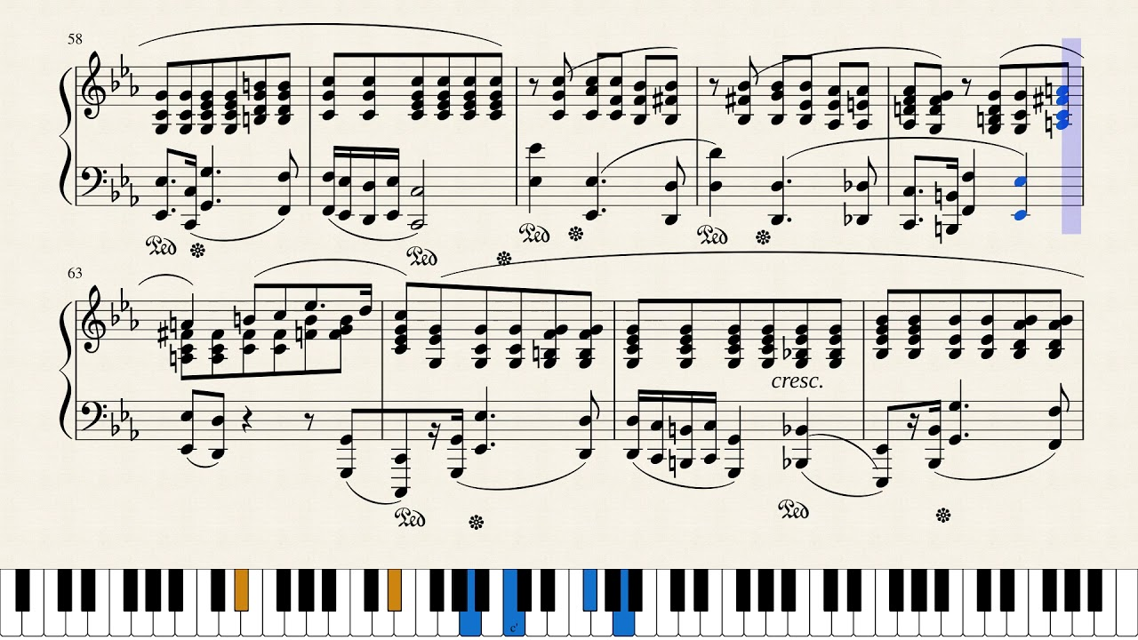"""Chopin polonaise op. 40, no. 1 """"military"""" piano tutorial (with."""