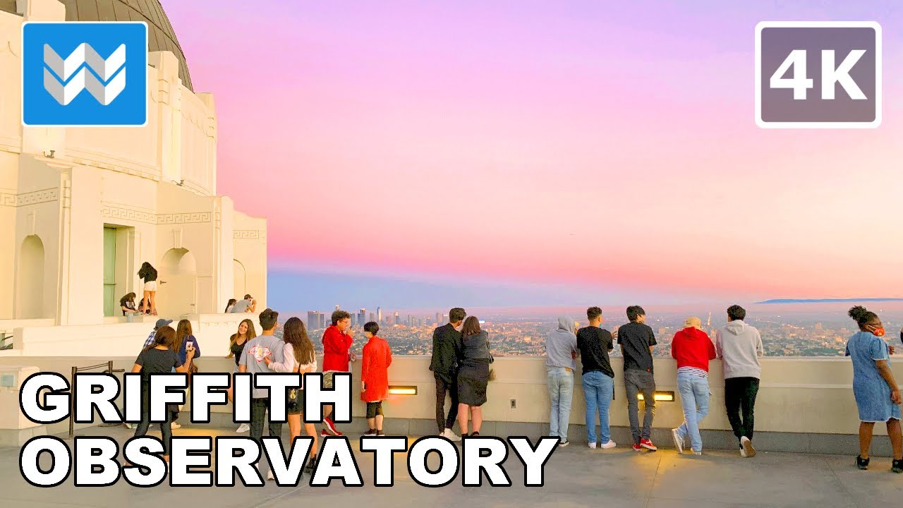 EPIC Sunset at Griffith Observatory in Los Angeles, California USA - 2020 Night Walking Tour 🎧 【4K】