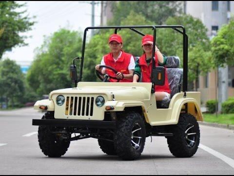 Moderne 200cc New Adult Big Size Mini Jeep Willys JW1501 - YouTube GD-11