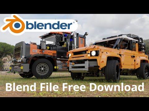 Blender 2.9 l LEGO Bricks Blend File Free Download