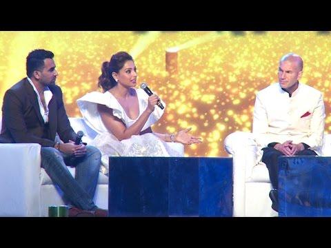 Zinedine ZIDANE With Bipasha Basu & Zaheer Khan On India
