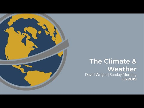 The Climate & Weather | David Wright | Sunday Morning | Janu