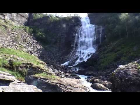Fossen Bratte and nearby unnamed waterfall, Eikedalen, Hordaland, Norway