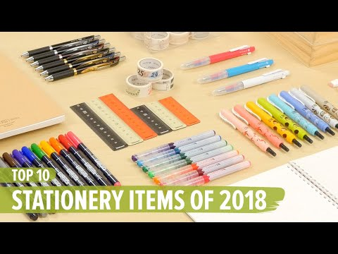 Top 10 Stationery Items of 2018