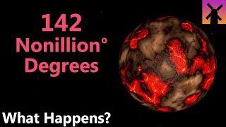 142 Nonillion Degrees; What Would Happen Next?