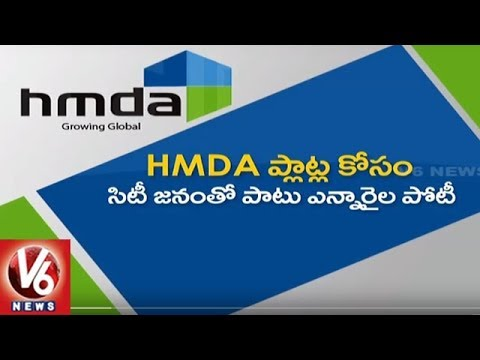 Huge Demand For HMDA Plots | HMDA Earns Rs 182 Crore By Selling 74 Plots In Auction | V6 News