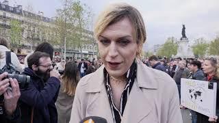 Rassemblement contre la transphobie / Julia (9 avril 2019, Paris)