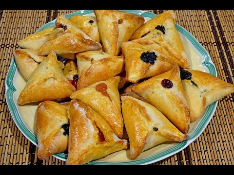 Хаменташн – печенья-треугольнички с маком и джемом _Hamantaschen with fruit and poppy seeds fillings