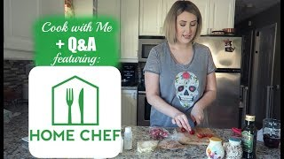 COOK WITH ME + Q&A | HOME CHEF | Summer Whitfield