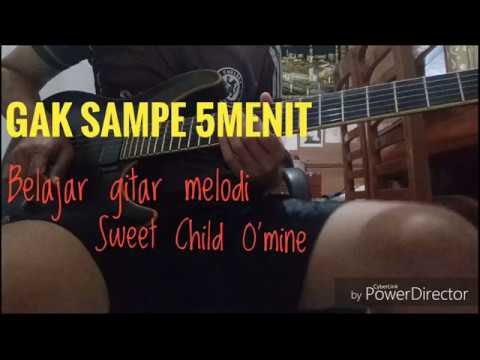 Belajar melodi Sweet Child O'mine gak sampe 5menit... #gitar_vlog4