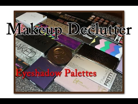 Makeup Declutter 2016 | Eyeshadow Palettes
